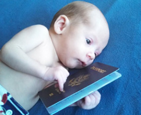 Getting a passport for your newborn baby