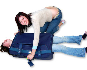 Teenage travelers passports
