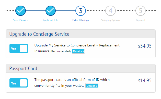 Service Add Ons - G3 Concierge Service, Insurance and Passport card